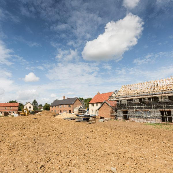 Housing development in Bergh Apton