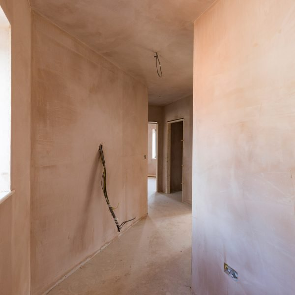 Plastering communal areas