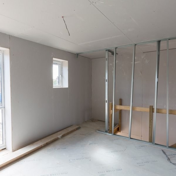 metal stud work and dry lining