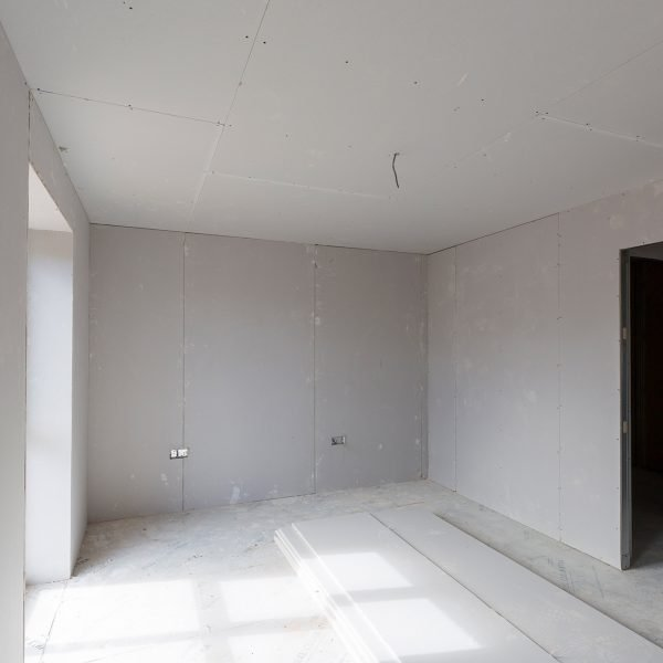 Dry lining in housing development