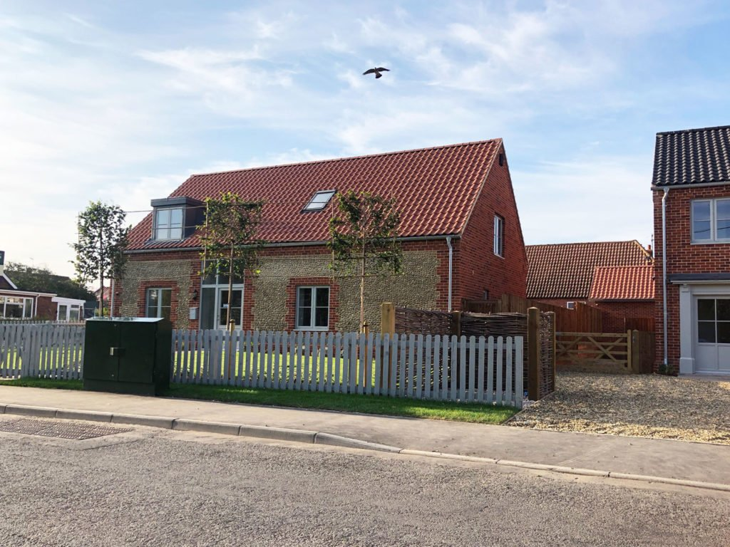 The Willows housing development in Brancaster Staithe